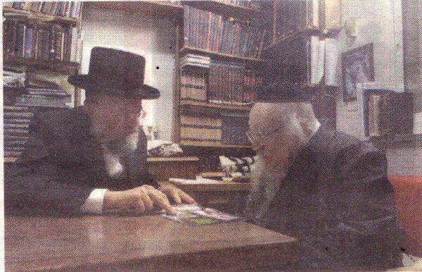 """הרב ראובן סקלר מתברך אצל הגר""""י שיינר"""